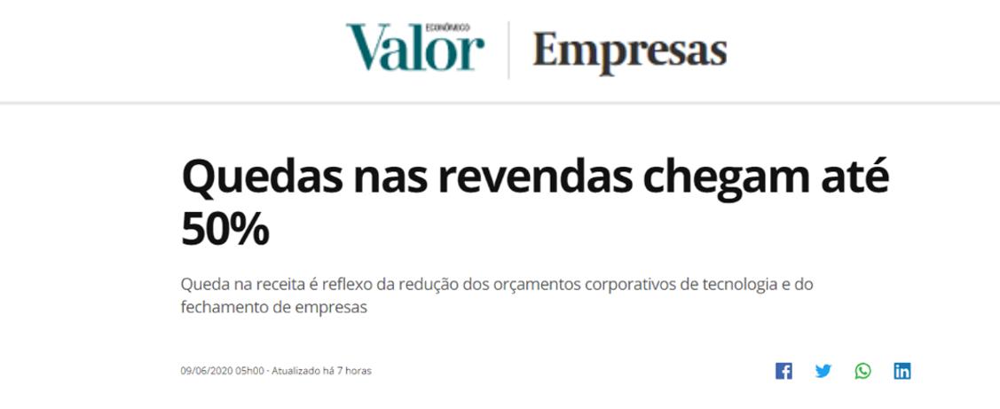 Censo das Revendas no Valor Economico